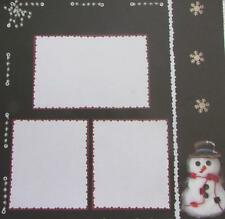"12X12"" Scrapbook Paper Single Sided Christmas Winter Frames Snowman"