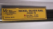 Micro- Engineering #17-070 NON WEATHERED RAIL CODE 70 N.S. 33 pcs 99 ft.