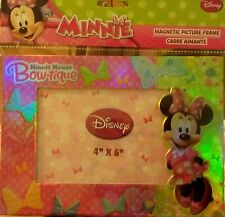 Disney Minnie Mouse Pink Bow-tique Friend Photo Picture Magnet 4x6 Kid Frame NEW