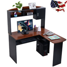 Corner Computer Desk L-Shaped Workstation Home Office Student Furniture New YS
