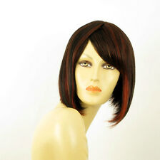 wig for women 100% natural hair black and red wick ref  CAMILLE 1b410 PERUK