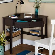 Corner Office Desk Home Laptop Table Workstation Computer Furniture Black Small