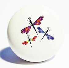 DRAGONFLY KITCHEN HOME DECOR CERAMIC KNOB DRAWER CABINET PULL
