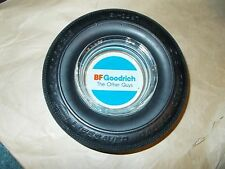 VINTAGE B.F. GOODRICH LIFESAVER RADIAL STEEL TIRE ASHTRAY WITH GLASS INSERT