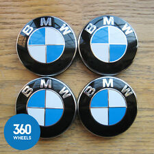 4 NEW GENUINE ORIGINAL BMW ALLOY WHEEL CENTRE CAPS BADGES E90 X5 36136783536