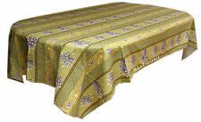 """Le Cluny 60"""" x 96"""" Rectangular COATED Provence Tablecloth - Lavender Green"""
