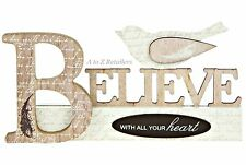 BIRDSTYLE BELIEVE LETTERS CONTEMPORARY PLAQUE MESSAGE CHRISTMAS ORNAMENT HOME