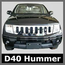 Hummer Style Chrome Front GRILLE for Nissan Navara D40 Pickup Grill Pathfinder