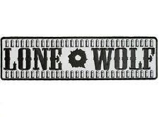 "(L42) REFLECTIVE LONE WOLF with BULLETS 10"" x 2.75"" iron on patch (1375)"