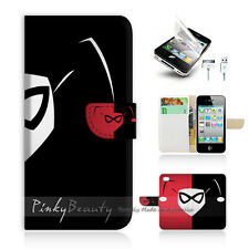 iPhone 4 4S Print Flip Wallet Case Cover! harley Quinn P0137