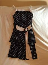 MY MICHELLE GIRLS SIZE 16 BLACK / WHITE TRENDY STYLE DRESS - HOLIDAY