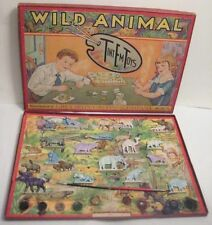 BOXED Set 16 Antique Cast Iron WILD ANIMAL TintEm Toys Grey Iron Mt Joy Pa RARE!
