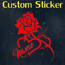 Custom Decal Vinyl Sticker With Your Text Or Name For Wall Car Or Laptop