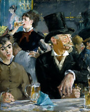 At the Cafe Edouard Manet Zylinder Tisch Bierkrüge Mode Trinken B A3 01483