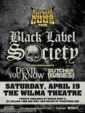 "BLACK LABEL SOCIETY ""REVOLVER GOLDEN GODS TOUR""2014 MONTANA CONCERT POSTER-Metal"
