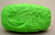 PEACOCK - BEAUTIFUL SOAP BAR -  SILICONE MOULD - MOLD PLASTER CANDLE CLAY WAX