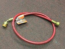 """Refrigeration Low Loss Hose, Red, 36"""" Charging Hose w/ANTI-BLOW-BACK Fitting, 1/"""