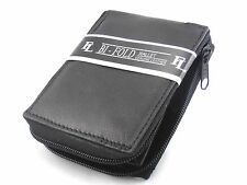 New Mens Zipper Zip Around Bifold Wallet Secure Genuine Leather Black Organizer