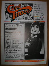 CARD TIMES MAGAZINE FORMERLY CIGARETTE CARD MONTHLY No 28 NOVEMBER 1991