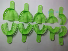10pcs Dental Plastic Impression Trays  Green