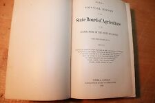 1878 KANSAS FIRST BIENNIAL REPORT STATE BOARD OF AGRICULTURE history antique