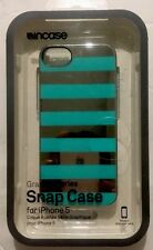 Incase Graphic Snap Case -Silver Chrome/Blue Stripes for iPhone SE/5s/5 CL69154
