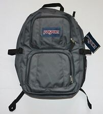 "New JanSport Merit Backpack 17"" Laptop Sleeve Book Bag Black Rucksack Grey"