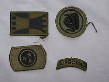 VINTAGE AIR FORCE ARMY PATCH LOT of  4 0019