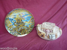 Vintage NOAH'S ARK TWO BY TWO PLATE BILL BELL COIN BAND PIGGY TREASURE CRAFT