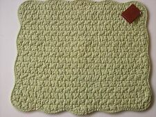 Solid Light Green Quilted Cotton  Placemats Set of 2 Great Finds SPEARMINT