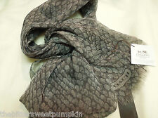 COACH~SILVER METALLIC PYTHON SNAKE PRINT~WRAP SCARF SHEER~F83982~MSRP $118~NWT!