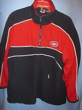 NHL Montreal Canadiens Old Time Hockey fleece pullover 1/4 zip  lined sz L sewn