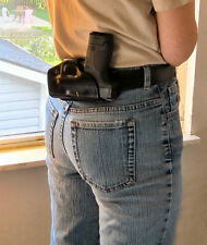 S&W, M&P Shield, 9mm & .40,  SoB, Small of Back Holster Professional Leather