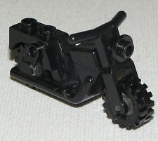 LEGO BLACK MINIFIGURE MOTORCYCLE VINTAGE FIGURE BIKE PIECE TOWN CITY