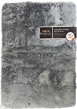"Home Circle Soft Top Memory Foam Bath Kitchen Mat 17""x24"" - Gray Mist - NEW"