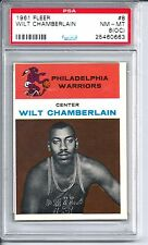 1961 Fleer Basketball #8 Wilt Chamberlain Rookie Card PSA NM-MT 8 (OC)