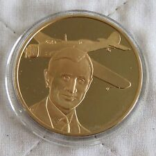 WORLD LONG DISTANCE RECORD 1938 44mm BRONZE PROOF MEDAL RAF MUSEUM MAN IN FLIGHT