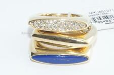 LOT OF 3 Michael Kors Rings Fashion Tribal Gold Tone Lapis Pave rings SIZE 7 NWT