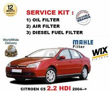 FOR CITROEN C5 2.2 HDi 136BHP 11/2004-> SERVICE KIT OIL AIR FUEL 3 FILTER KIT