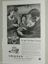 1957 Graflex ad, Graphic 35, Capital Airline Stewardess