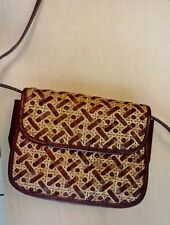 ETIENNE AIGNER WOVEN LEATHER And straw purse bag