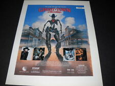 GHOST TOWN The Good - Bad - Satanic 1988 HORROR promo Poster Ad mint condition