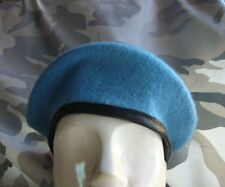 US ARMY MILITARY SPECIAL FORCES STYLE STYLE WOOL BERET BLUE CAP