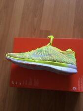 BNIB Womens Nike Free TR Flyknit Running Trainers Uk Size 7.5 Yellow Multi Colou