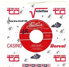 CANADA NM POP 1960s 45 RPM PIERRE SENECAL : JOLIE MILADY + VOS YEUX