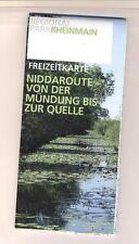 Freizeitkarte - NIddaroute - von der Mündung bis zur Quelle -
