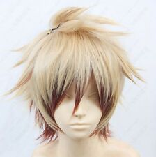 Amnesia Toma Short Blonde mix Cosplay Costume Wig  ONLY WIG 9169