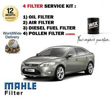FOR FORD MONDEO 2.0TDCi 6/2007-  SERVICE KIT OIL AIR FUEL POLLEN FILTER KIT