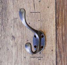 Antique Vintage Style Cast Iron Coat Hook Set Of 10 Hooks Cornish Design