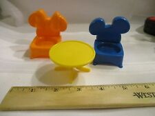 Fisher Price Little People Disney Mickey Mouse World Magical Day table Chair lot